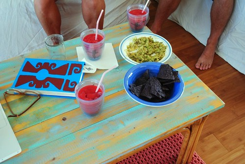 lacuna, guac + chips, watermelon margs