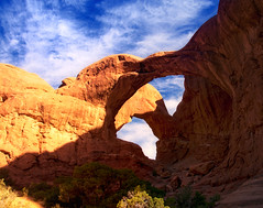 double arch (Wolfgang Staudt) Tags: usa utah archesnationalpark wste sdwestenusa