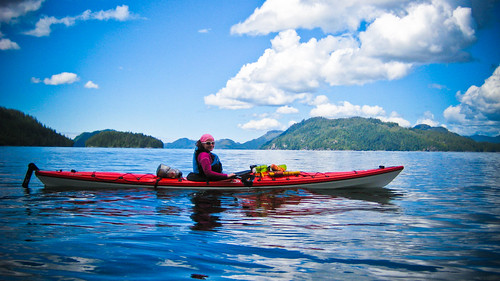 Natalie Lucier Kayaking around Vancouver Island