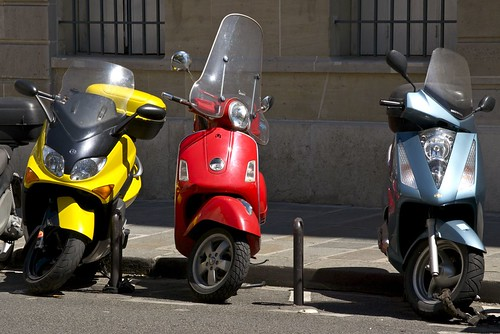 Primary Colors - Paris Mopeds