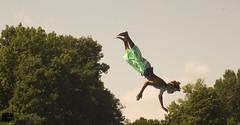 Boy in the Air (Adam Haranghy) Tags: school boy summer hot sports water pool swimming vintage board diving teen feeling adolescent preteen