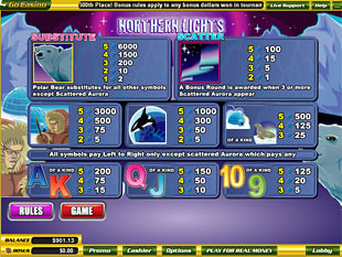 free Northern Lights slot mini symbol