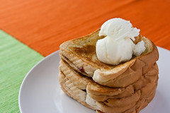 Toasted Peanut Butter and Jelly Sandwich with Ice Cream (thezidane) Tags: food cooking canon lens photography fry cook sandwich grill icecream jelly 365 rebelxt grilling peanutbutter f28 frying toasted 2470mm nickkoogler