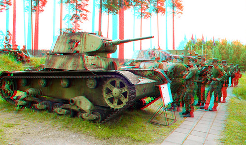 Parola Tank Museum in anaglyph