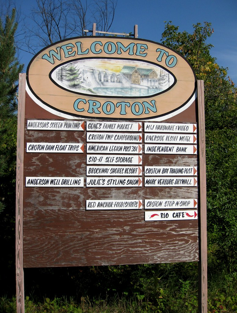 Croton Welcome Sign