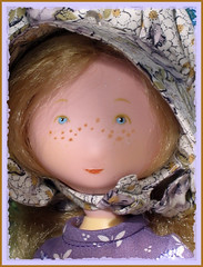 Holly Hobbie (dog.happy.art) Tags: girl toy doll handmade vinyl collection collectible collecting hollyhobbie farmgirl dollclothes pioneergirl
