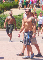 SanDiegoPride2010 143 (danimaniacs) Tags: shirtless man hot sexy male guy pecs sunglasses daddy nipples bare chest hunk navel abs sixpack