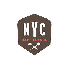 NYC darts (Wallace Design House) Tags: nyc color beer modern vintage logo design mark identity darts league