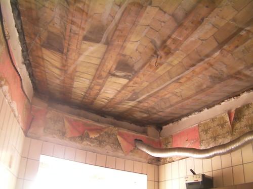 Forjado de madera y ladrillo cerámico
