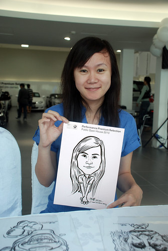 Caricature live sketching for Performance Premium Selection BMW - Day 4 - 14