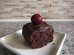 Black Forest Brownies with Mocha Ganache