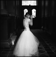 Cut a Long Story Short II (__Daniele__) Tags: portrait bw 120 6x6 film girl vintage ballerina delta hasselblad 400 analogue schwarzweiss ilford