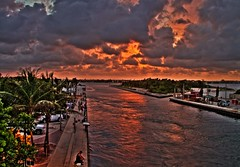 07-22-2010 T1i sunset HDR 004 (James Scott S) Tags: ocean sunset red orange usa storm beach colors weather clouds canon scott eos rebel james high fishing dynamic florida united palm atlantic ii saturation di tropical bonnie pro fl states af dslr tamron 31 range vc hdr waterway intracoastal a1a 500d photomatix f3563 18270mm t1i
