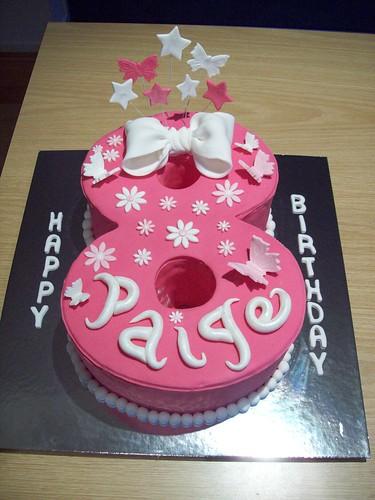 Admirable 8Th Birthday Cake A Photo On Flickriver Personalised Birthday Cards Veneteletsinfo