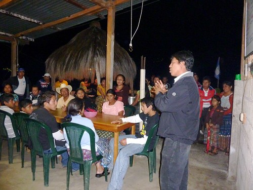 Lorenzo speaking to families