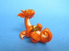Topaz Orange Gem Dragon (DragonsAndBeasties) Tags: november orange cute wings dragon crystal magic gift scales lucky kawaii series pearl swarovski etsy custom gem jewel collectable shimmer topaz birthstone