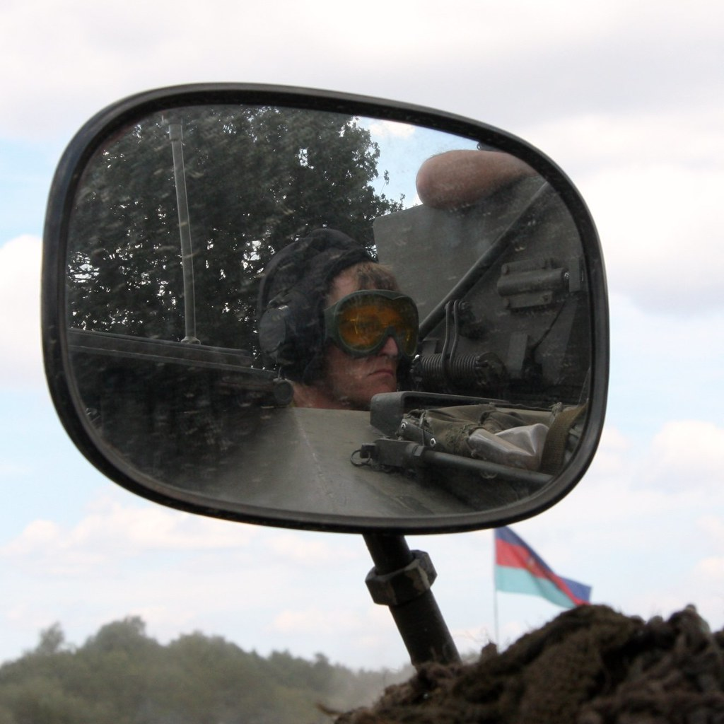 Tank driver reflection - War and Peace Show 2010 Photo
