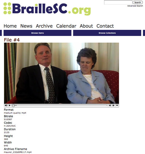 BrailleSC file page, video