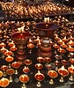 Traditional butter lamps are offered for all those who didn't survive the calamity.