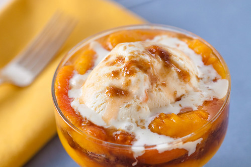 Peach and Pecan Parfait