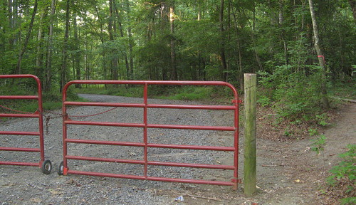 Fence on campground road