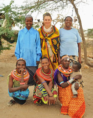 2d. With the Samburu ladies, Archer's Post