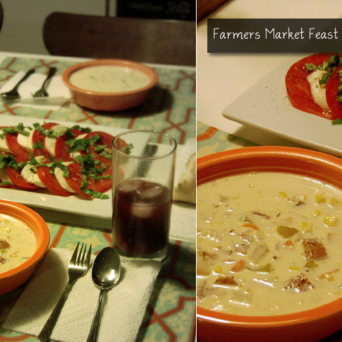 Farmers Market Chowder & Salad
