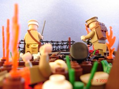 Assault At All Costs! (Colonel Ghostman) Tags: world 1 wire war all lego wwi attack assault soldiers costs barbed figures gunfire i at