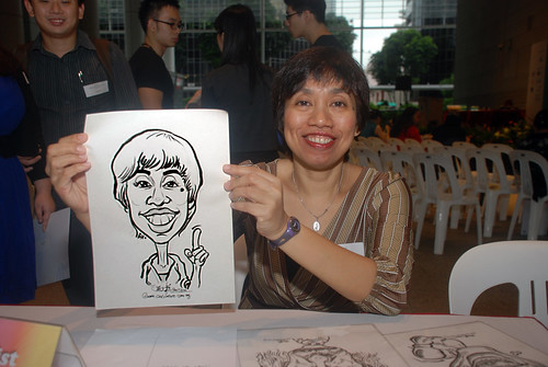 Caricature live sketching for KidsRead Volunteer Appreciation Day 2010 - 3