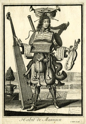 001-vestimenta de musico-Les Costumes Grotesques 1695-N. Larmessin-© The Trustees of the British Museum
