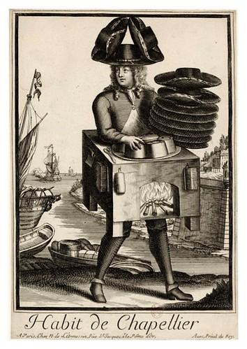 059-Vestimenta de sombrerero-Les Costumes Grotesques 1695-N. Larmessin-BNF