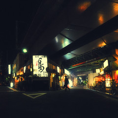 MOONLESS NIGHT (ajpscs) Tags: street nightphotography summer japan night japanese tokyo nikon streetphotography  nippon   happyhour salaryman shinbashi   d300  tokyonight    ajpscs