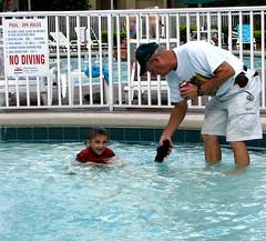 Sherwood & Nathaniel (Gem Images) Tags: family pool us orlando florida nathaniel sherwood vacationvillage