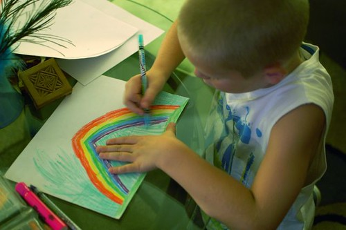 drawing a rainbow