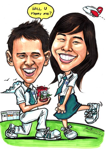 Couple caricatures - proposal A3