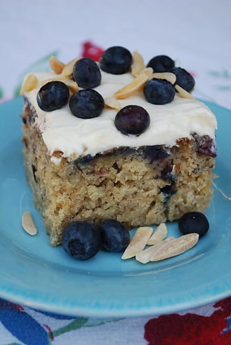 slice of Banana Blueberry Cake