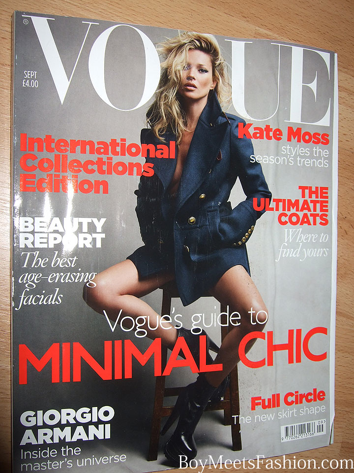 See The Front Cover Of Vogue Uk Magazine September 2010 Edition