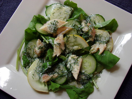 Smoked Trout and Cucumber Salad