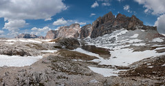 Lagazuoi Panorama (OneEighteen) Tags: italy snow mountains trekking hiking climbing dolomites lagazuoi altavia1