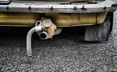 Lada the EcoCar (Aspiriini) Tags: canon gasmask lada tailpipe exhaust co2 jonilehto aspiriini hlworld