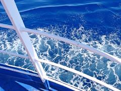 In nave - On the ship (Ola55) Tags: sardegna sea summer italy mare waves ship estate nave italians onde ferryboat blueandwhite biancoeblu mywinners aplusphoto worldtrekker yourcountry ola55
