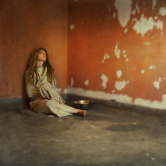 in moderation (brookeshaden) Tags: orange blur abandoned hospital decay patient explore dreamy frontpage straightjacket selfie brookeshaden texturesbylesbrumes