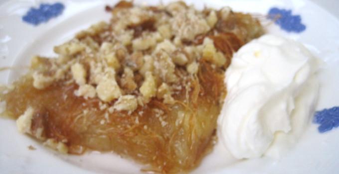 Künefe - Söt dessert med mozarellaost