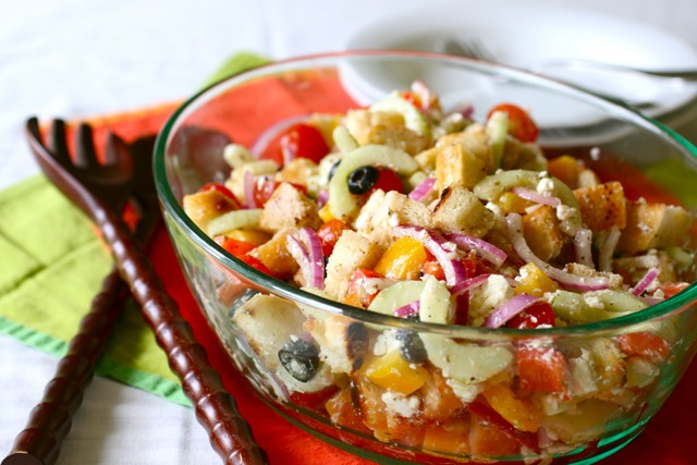 greek panzanella - annie's eatsannie's eats