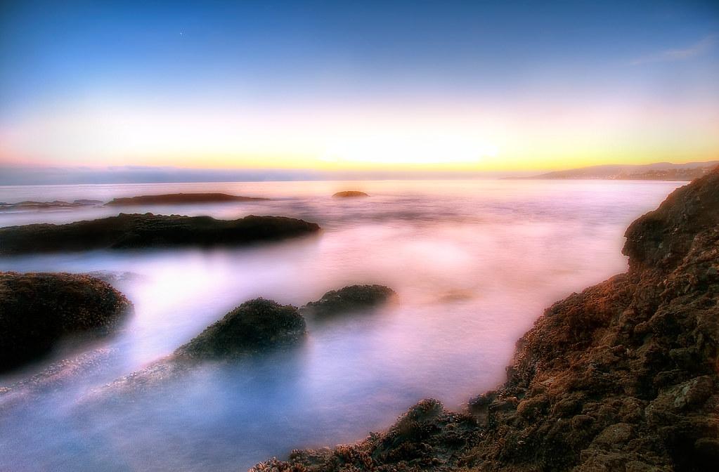 Laguna Beach at Sunset.
