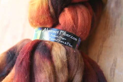 Hand-dyed Wool Roving for Felting