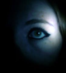 These Eyes Can Do More Than See (Sammi Sunshine) Tags: eye girl dark teen greeneye freckles bluetint blackeyemakeup