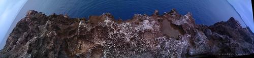 現場でつなげられなかった残波岬のiPhoneパノラマ