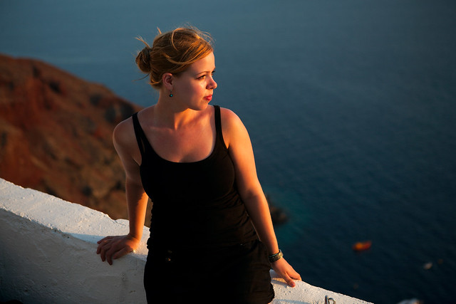 Eleanor at Santorini, Greece