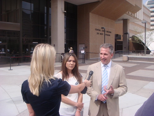Arizona Criminal Attorney David Cantor with client Lisa Randall after Capital Murder Case Dismissal